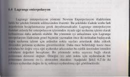 Lagrange enterpolasyon