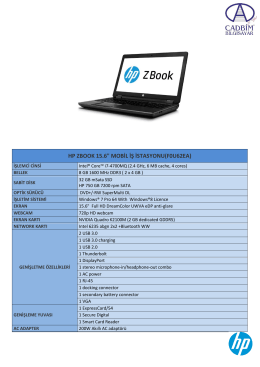 "HP ZBOOK 15.6"" MOBİL İŞ İSTASYONU(F0U62EA)"