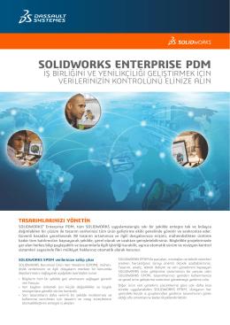 SOLIDWORKS Enterprise PDM Veri Sayfası