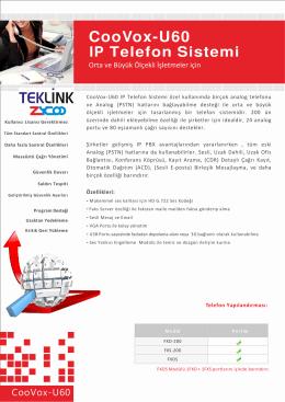 CooVox-U60 IP Telefon Sistemi