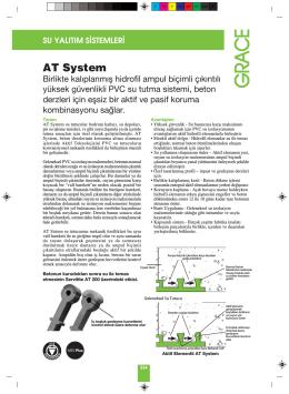 at sistem – pvc su tutucu