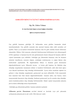 Op. Dr. Zehra Yılmaz - Dr. Sami Ulus Eğitim ve Araştırma Hastanesi