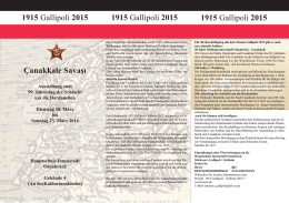 1915 Gallipoli 2015 1915 Gallipoli 2015 1915 Gallipoli 2015