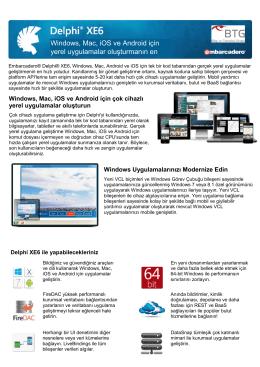 Delphi XE6 Datasheet - Bilgi ve Teknoloji Grubu