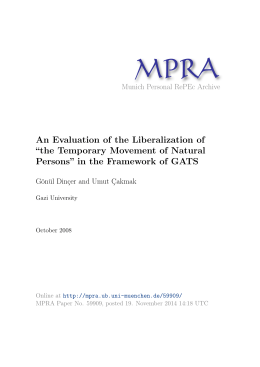 "An Evaluation of the Liberalization of ""the Temporary Movement of"