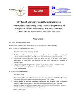 28 Mart 2014 tarihinde Hacettepe Üniversitesi Göç ve Siyaset
