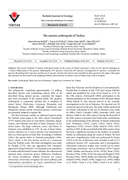 The marine arthropods of Turkey