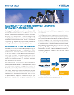 SmartPlant Enterprise for Owner Operators