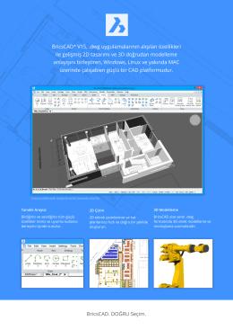 BricsCAD® V15, .dwg uygulamalarının alışılan özellikleri ile gelişmiş