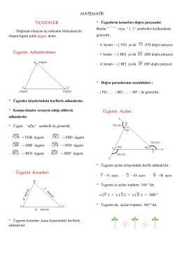 üçgen ve üçgen çeşitleri konu anlatımı