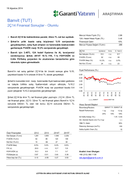 Banvit (TUT) - Garanti Yatırım