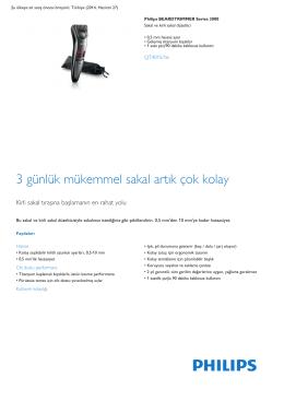 Product Leaflet: 0,5 mm hassas ayar Sakal ve kirli sakal düzeltici