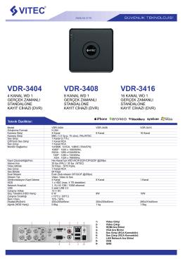 VDR-3408 VDR-3404 VDR-3416