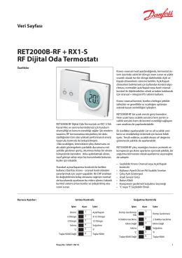 RET2000B-RF + RX1-S RF Dijital Oda Termostatı