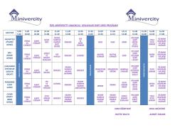 Ders Programları - Minivercity Anaokulu