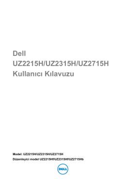 Dell UZ2715H Kullanım Kılavuzu