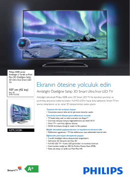 42PFL5028K/12 Philips Ambilight 2 Taraflı ve