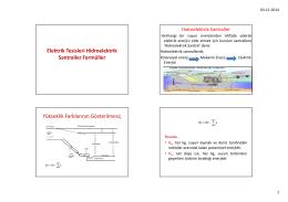 elektrik tesisleri hidroelektrik santaller