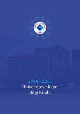 2014 - 2015 Üniversiteye Kayıt Bilgi Kitabı
