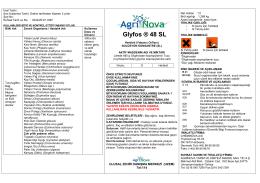 Glyfos ® 48 SL - AgriNova Türkiye