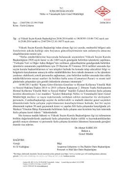 Fazla Çalışma - Nüfus ve Vatandaşlık İşleri Genel Müdürlüğü