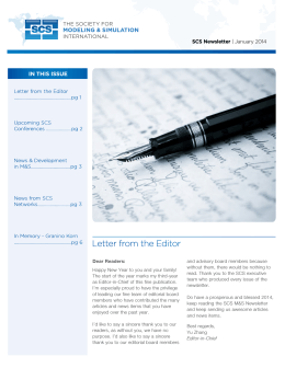 January 2014 SCS News Letter