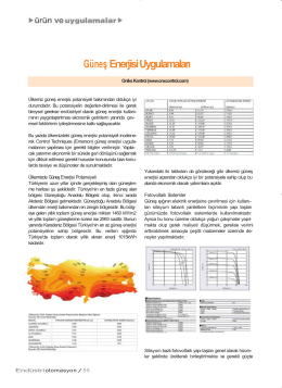 Unidrive SP ile Fotovoltaik Kontrol