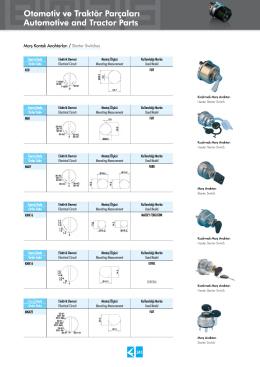 Otomotiv ve Traktör Parçaları Automotive and Tractor Parts