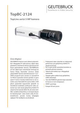 TopBC-2124 TopLine serisi 5 MP kamera