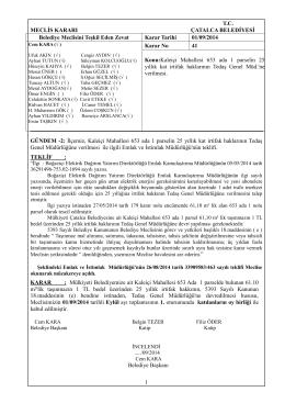 01.09.2014-_41_Kaleiçi Mah.653 ada 1 parselin Tedaş Genel Müd