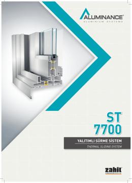 st 7700 yalıtımlı sürme sistem - Akmanlar Alüminyum Profil Market