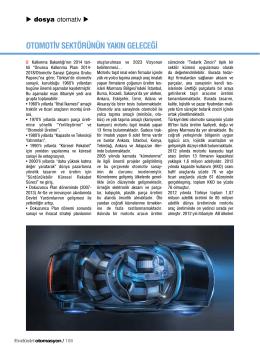 otomotiv sektörünün yakın geleceği