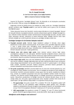 Yenidoğan Sarılığı - Dr. Sami Ulus Eğitim ve Araştırma Hastanesi