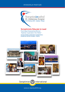 Soroptimists Educate to Lead - Soroptimist 20th International
