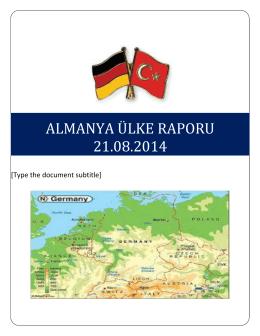 almanya ülke raporu 21.08.2014 - Bursa Ticaret ve Sanayi Odası