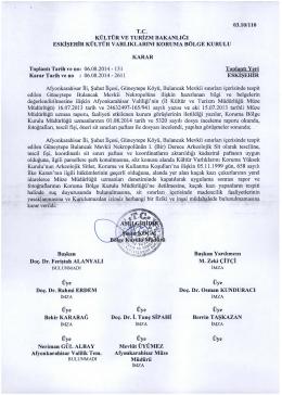 Afyonkarahisar Şuhut Güneytepe köyü Bulancak Mevkii Nekropolü 1