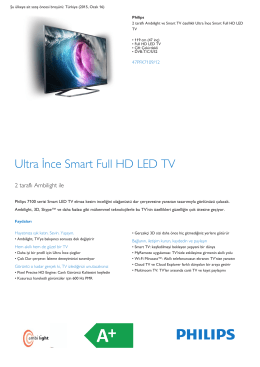 Product Leaflet: 119 cm (47 inç) Ultra İnce Smart Full HD