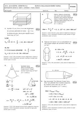 8 matematik 2.donem 3.yazili B GRUBU.indd