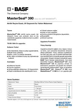 MasterSeal® 390 (Eski Adı LİKİT MEMBRAN Akrilik