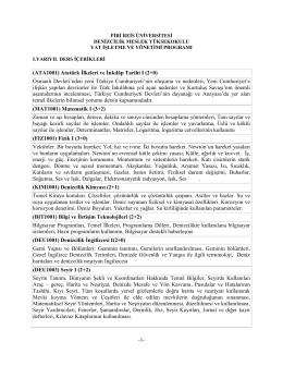 Yat İşletme ve Yönetimi Programı