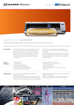 GX-24 Broşür - OTS Dijital Baskı Çözümleri