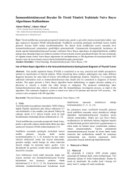 İmmunohistokimyasal Boyalar İle Tiroid Tümörü Teşhisinde Naive