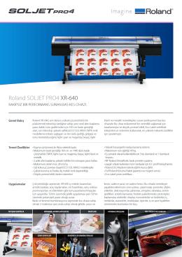 Roland SOLJET PRO4 XR-640 - OTS Dijital Baskı Çözümleri