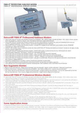 DelcomRF PWM-H® Profesyonel Kablosuz Modem DelcomRF PWM