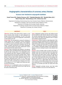 Angiographic characteristics of coronary artery fistulas