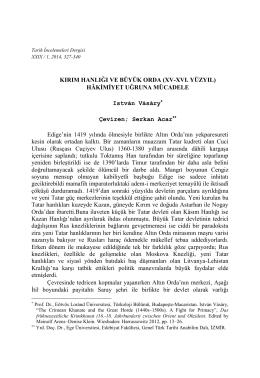 (XV-XVI. Yüzyıl) Hâkimiyet Uğruna Mücadele