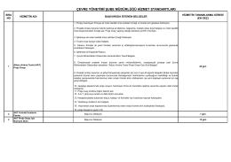 Çevre Yönetimi Şube Müdürlüğü - Çevre ve Şehircilik Bakanlığı