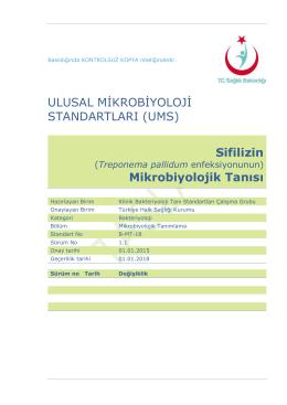 Sifiliz - Türkiye Halk Sağlığı Kurumu