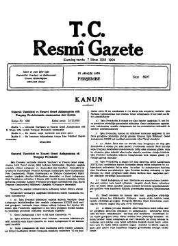 KANUNN - Resmi Gazete