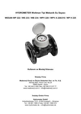 WESAN WP 222 Kullanım Kılavuzu